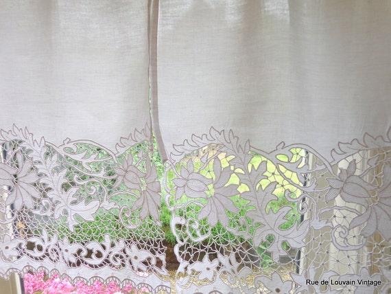 rideaux de dentelle vintage blanc fleur rideaux de style. Black Bedroom Furniture Sets. Home Design Ideas