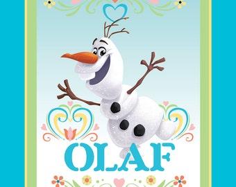 Per Panel, Disney Dancing Olaf Fabric From Springs Creative