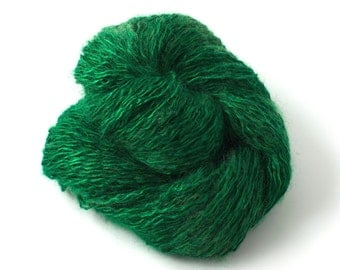 Hand-dyed SILK MOHAIR in tourmaline