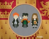Cross stitch pattern Harry, Ron and Hermiona Instant Download PDF