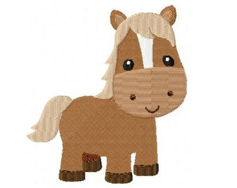 Embroidery Design Horse 4'x4' - DIGITAL DOWNLOAD PRODUCT