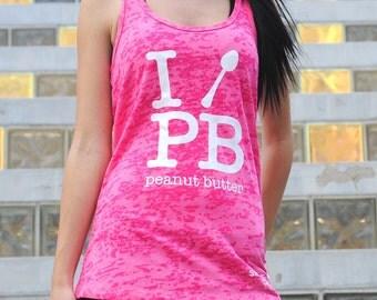 I Spoon Peanut Butter Tank Top. Workout Tank Top. Cross Training Tank. I Love PB Womens Burnout Tank Top. Gym Tank. Peanut Butter Lover
