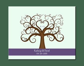 Modern Guestbook Alternative, Fun Wedding Thumbprint Tree, Elegant Wedding Thumbprint Tree, Wedding Tree Print