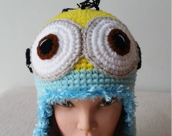 Minion Hat, Minion crochet hat-Despicable Me Hat, Birthday gift, Christmas gift