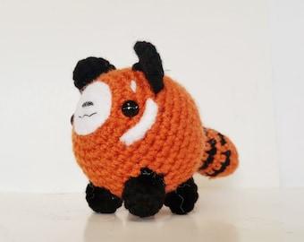Little Stuffed Red Panda / Amigurumi Crochet Red Panda