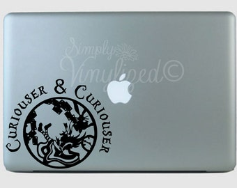 Curiouser & Curiouser Alice Inspired Car Decal