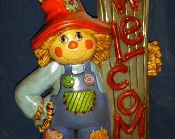 Scarecrow Welcome Ceramic