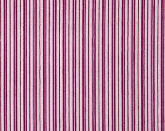 Magenta Candy Straws Fabric, Christine, Eleanor Burns, Benartex (By 1/2 yd)