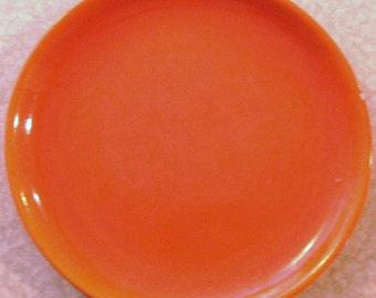 Large Mid-Century Flame Orange Platter/Charger
