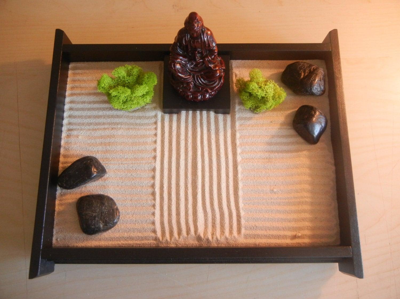 M 03b Medium Desk Top Zen Garden With Sienna By
