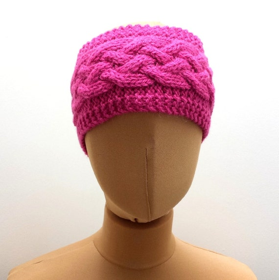 Cable Knit Ear Warmer Pattern : Knitting Pattern For Cabled Ear Warmer, Headband Knit A Cable Headband For Wo...
