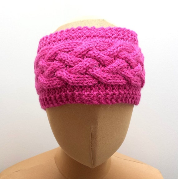 Cable Knit Ear Warmer Pattern : Knitting Pattern For Cabled Ear Warmer Headband Knit A Cable