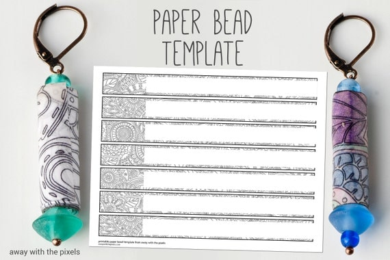 Gargantuan image throughout printable paper bead templates