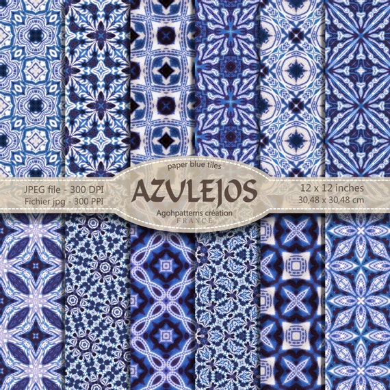 12 azulejos digital paper kal idoscope t l chargement. Black Bedroom Furniture Sets. Home Design Ideas