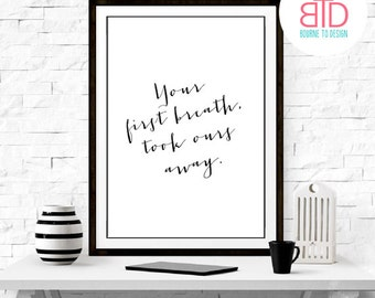 INSTANT DOWNLOAD Inspirational Quote Wall Decor Typography Print Inspirational Poster Wall Art Print Art Poster Nursery Decor Baby Shower