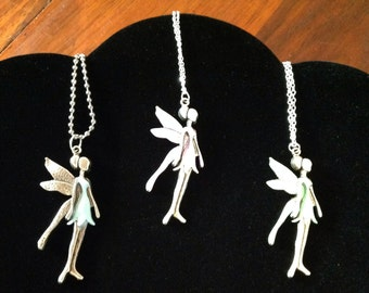 Fairy;necklaces;hand tinted;wings;children;girls;cosplay