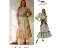 """Vogue American Designer Ralph Lauren Pattern 2316 Misses/ Miss Petite Size 6, 8, 10 Bust 30 1/2 - 32 1/2"""" Sewing Pattern Uncut"""