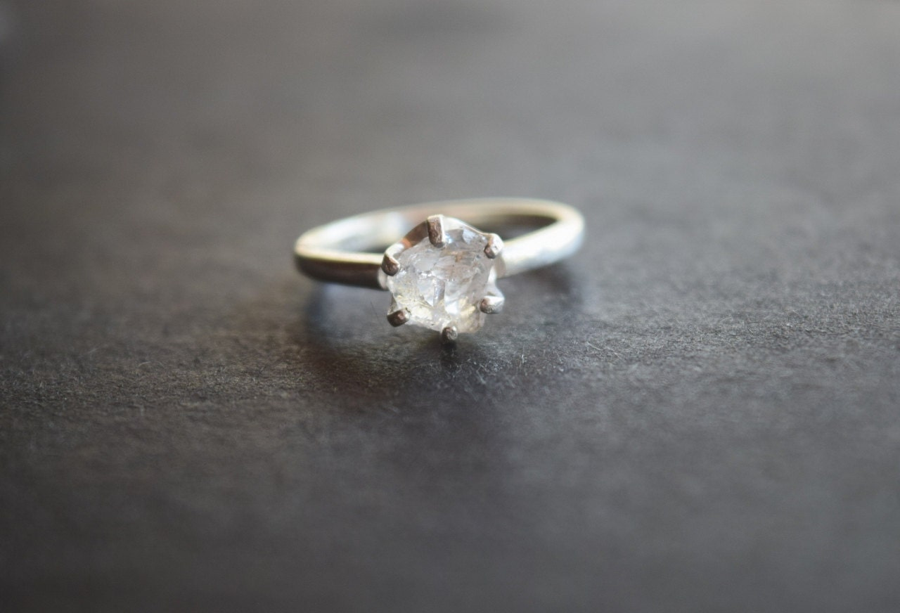 Raw Diamond Engagement Ring Rough Diamond Ring Uncut By Avello