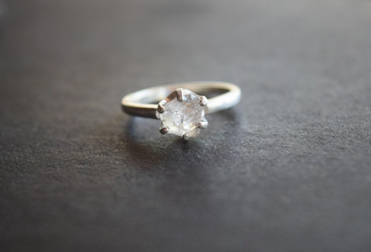 Raw Diamond Engagement Ring Rough Diamond Ring Uncut by Avello