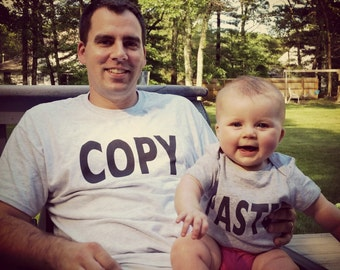 Dad and Baby Matching Shirts Set, Gift for Dad, Copy Paste Shirt Set