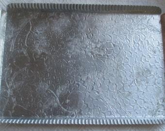 Vintage Designed Aluminum Rectangular Tray