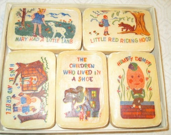 Vintage Children's Story Rhymes Illustrated Soap