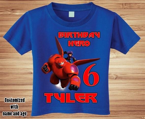 Big Hero 6 Shirt ~ Baymax Birthday Shirt PERSONALIZED ~ Custom
