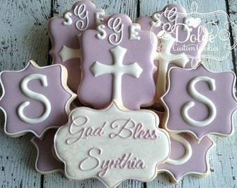 Baptism Christening Communion Confirmation Personalized Cookies