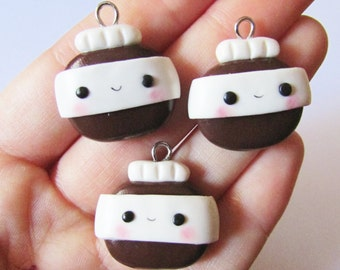 Kawaii Nutella-inspired Chocolate Spread Jar - Polymer Clay Charm