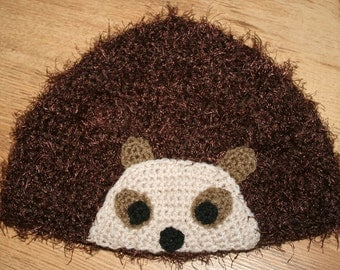 Hand Crocheted Hedgehog Hat