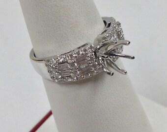 Natural Diamond Engagement Ring 18kt White Gold