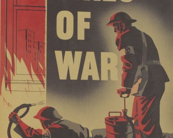 Original Vintage War Against the Fires of War Homefront Poster