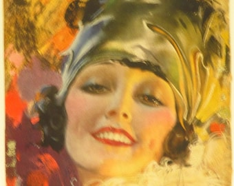 Original Vintage Rolf Armstrong The Smile You Can't Resist Calendar Print