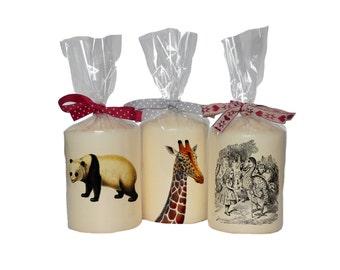 Candle/ pillar candle/ panda/ giraffe head/ Alice in Wonderland