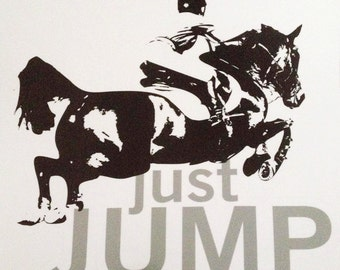 Just Jump Decal, Hunter Jumper Decal, Jumpers Decal