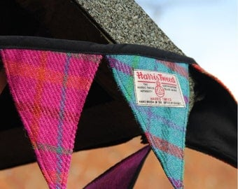 Harris Tweed bunting, garland, banner, flags