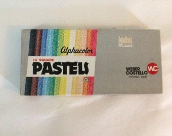 Vintage Alphacolor Pastels Set