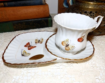 Vintage Italian Handpainted Cup and Saucer Set Domenica De Donno Collectible