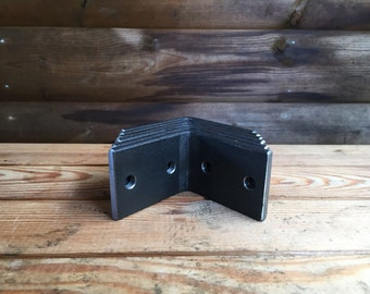 Steel Angle Brackets 50mm x 6mm x 75mm Industrial Style Wall Brackets - Handmade in UK