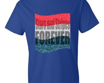4th of July Shirt For Man Stars and Stripes Forever