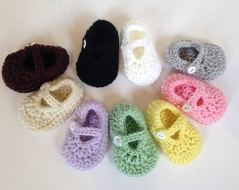 Crochet Girl Shoes, Crochet Baby Booties, Crochet Baby Shoes, Newborn Booties,