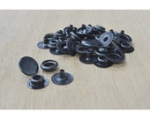 Line 20 Snap Steel Fasteners Black Plated, leathercraft, 10 Pack - 28389