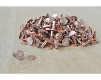 "Number 9 Copper Rivet Burr Set 1/2"" 1 pound Bulk leathercraft - 37619"