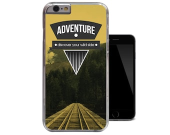 Adventure iPhone 6 Case Mountain Discover Iphone 5 Case Your Wild Side Iphone 5c Case Motivation iPhone 5s Case Quote iPhone 4 4s Clear Case