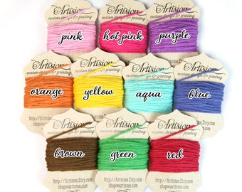 Solid Color Bakers Twine 4 ply made in USA 100% cotton twine