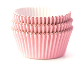 Solid Light Pink Cupcake Liners