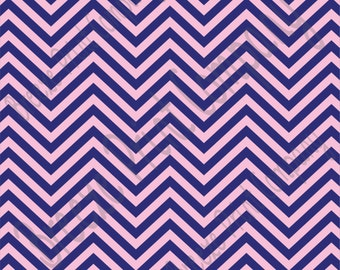 Navy and light pink chevron craft  vinyl sheet - HTV or Adhesive Vinyl -  zig zag pattern   HTV5000