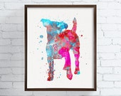 Jack Russell Print, Jack Russell Watercolor, Jack Russell Art, Jack Russell Painting, Dog Wall Art, Dog Lover Gift, Jack Russell Poster