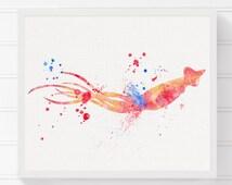 Squid Print, Squid Painting, Squid Poster, Sea Life Art, Coastal Wall Decor, Nautical Wall Art, Nursery Wall Art, Beach Art Print