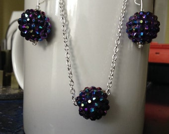 Iridescent Blue Sparkles Set